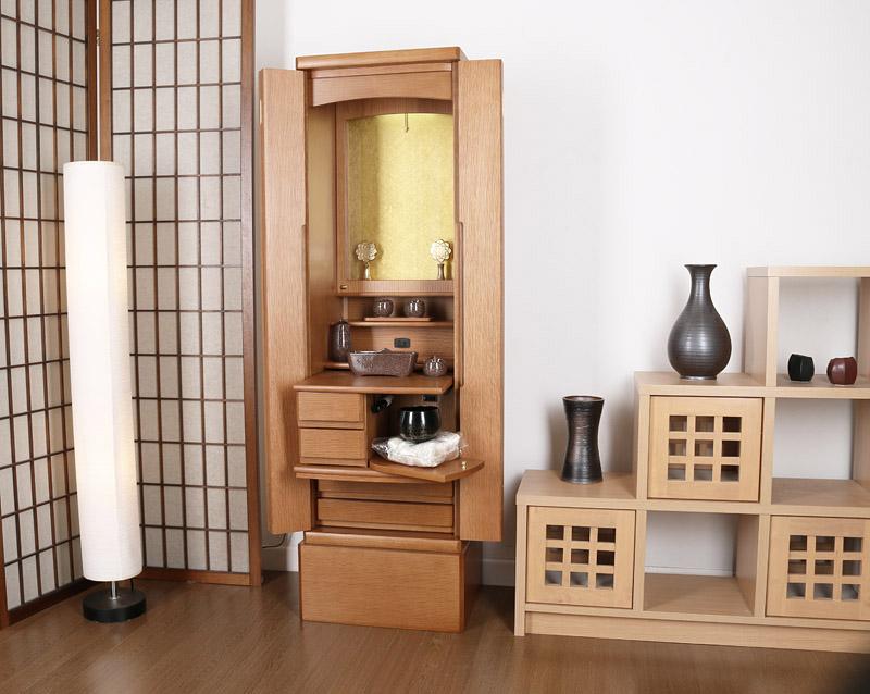 家具調仏壇かれん/贅沢天然木使用!クリア厨子