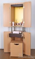 椅子付き家具調仏壇スペース/ソフトピンク