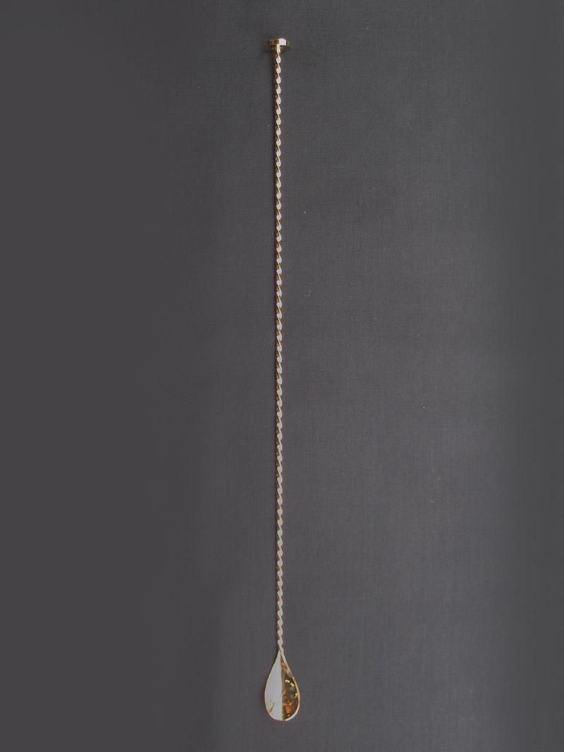 バースプーン50cm +3.5回転増 メタル 金メッキ