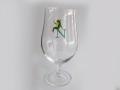 カエル すわる 手描きイニシャル(グラス:CXBL-173 ボヘミアビア 40752/380)