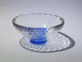 04 クリスタル 平杯カップ 青
