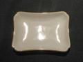 白磁ロイヤル 長角灰皿 金線入 白-小 6ヶセット