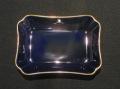 NBロイヤル 長角灰皿 金線入 瑠璃-小 6ヶセット