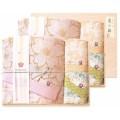 しまなみ匠の彩 白桜 タオルセット 国産木箱入 (BFK-80)