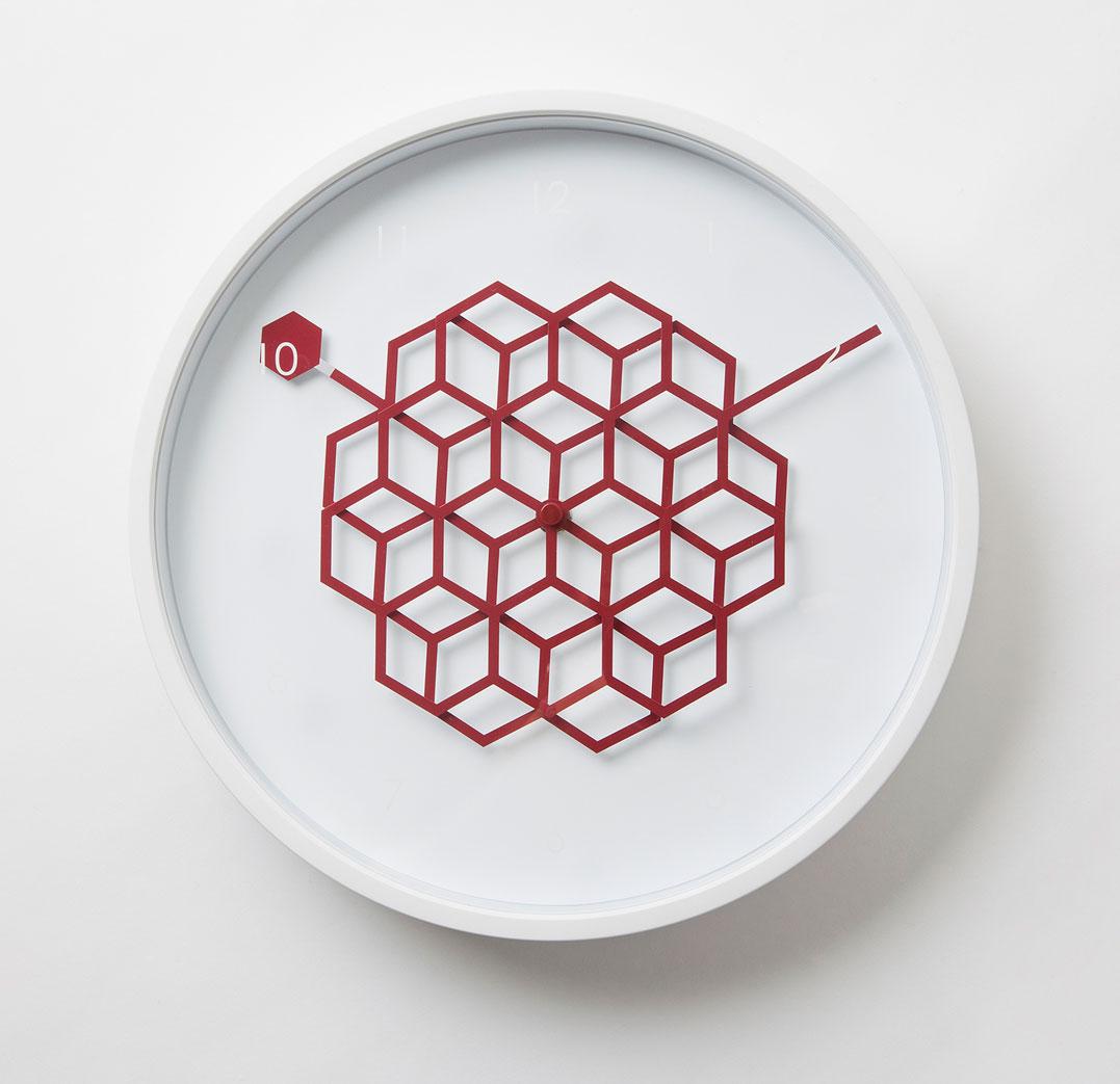 Tangle Clock ハニーレッド