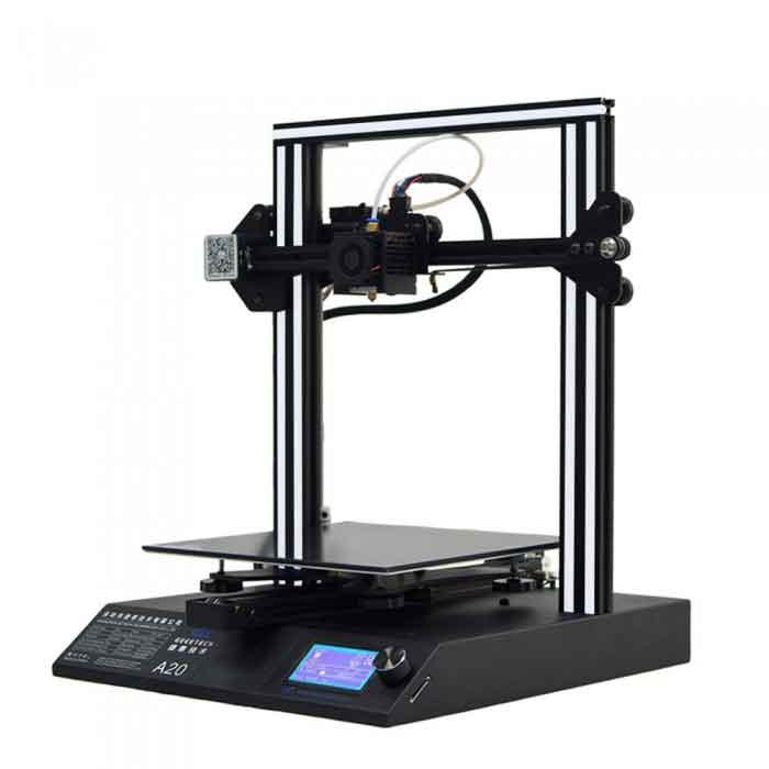 GEEETECH A20 3Dプリンター 一部組立済みDIYキット 255×255×255mm大容量ビルドエリア 3.2インチフルカラータッチスクリーン 停電時復帰機能