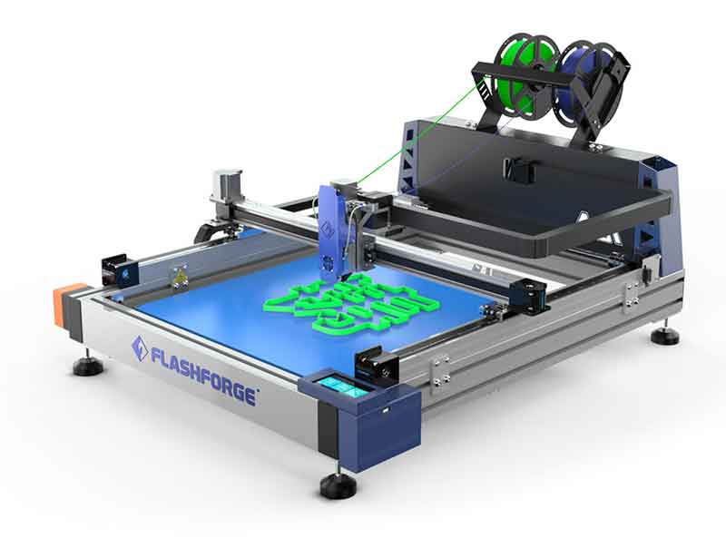 Flashforge AD1チャンネルレター3Dプリンター(2色印刷用デュアル押出機 超高精度印刷 停電回復機能 最大印刷サイズ 600 * 600 * 70mm)