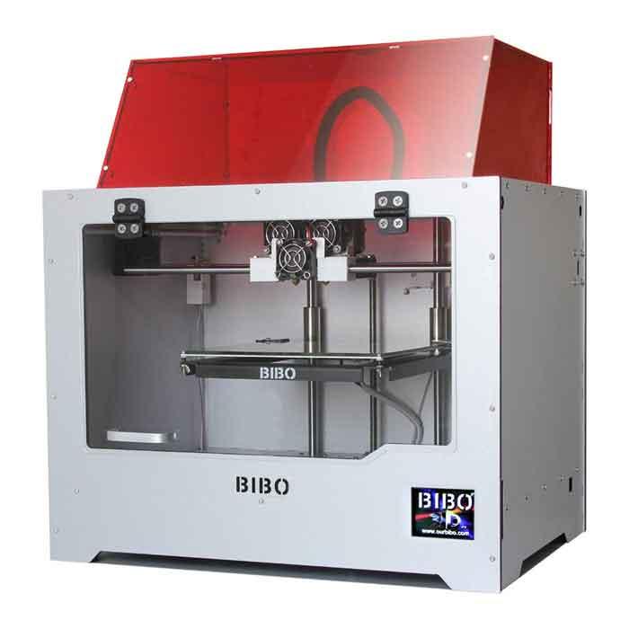BIBO/ビーボ  BIBO 2 3Dプリンター金属フレームデュアルエクストルーダー・レーザー彫刻・WIFIフィラメント検出