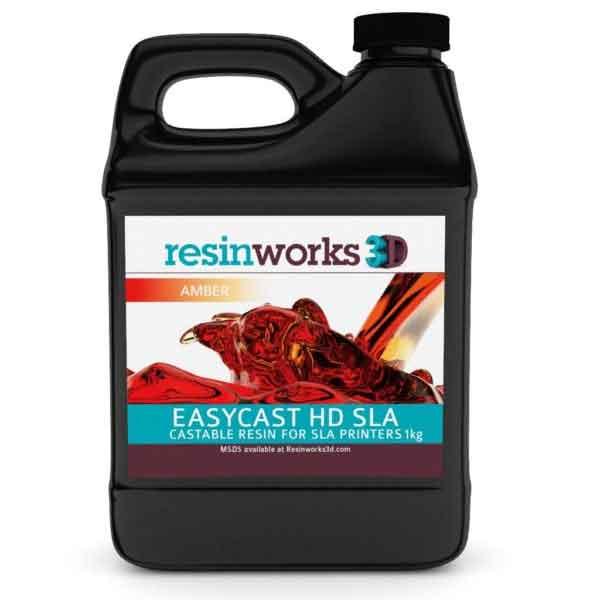 resinworks3D CCW EasyCast HDレジン-アンバー1Kg SLA光造形 3Dプリンター用 (From1+,Form2およびその他のSLAベースのプリンター)CCW EasyCast HD SLA Amber