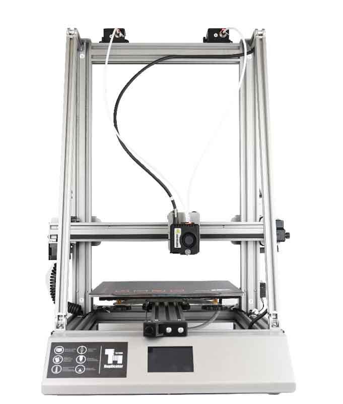 WANHAO_D12-300-デュアルエクストルーダー 大型印刷 3Dプリンター 一部組立済みDIYキット 300×300×400mm大容量ビルドエリア 3.2インチ/TMC2208ウルトラミュートドライバーサポートパワーレジューム