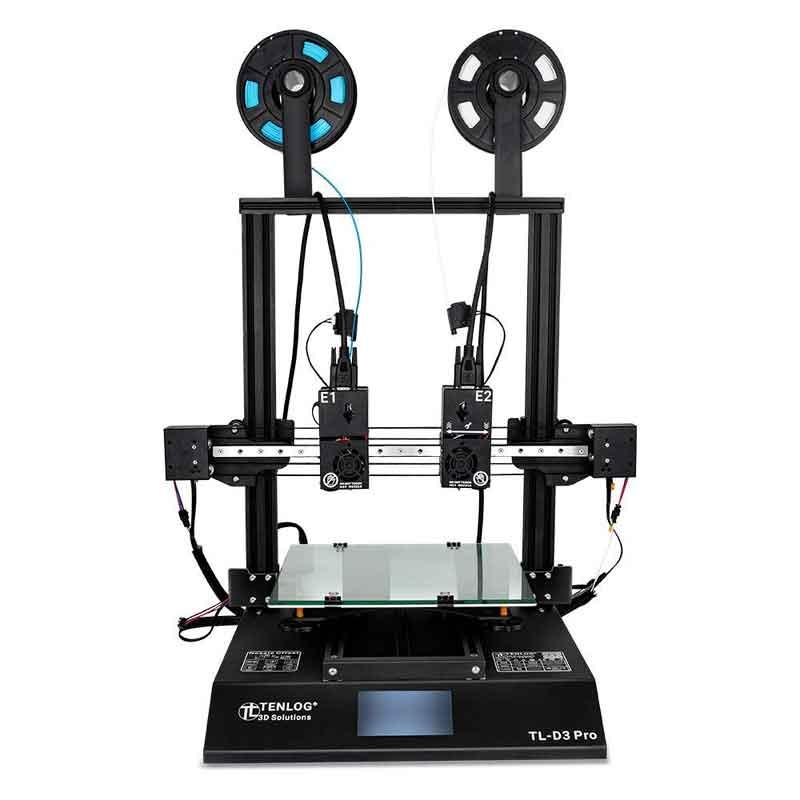 TENLOG TL-D3Pro 3Dプリンターキット300 * 300 * 350mm印刷サイズ、デュアルエクストルーダー/メインボード/モジュラーXaxis /デュアルモーター/3.5インチカラースクリーン