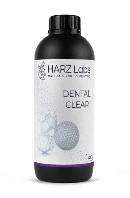 HARZLabs 歯科用デンタルクリア 500g LCD光造形 3Dプリンター用 (Anycubic Photon、Bean、FlashForge、Phrozen 3Dプリンター、Wanhao、およびその他のLCDベースのプリンター)Dental Clear