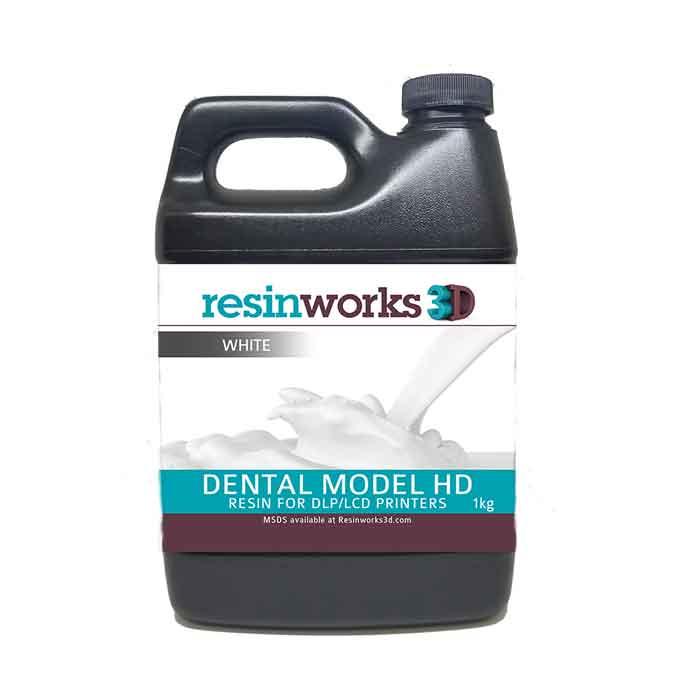 resinworks3D 歯科用モデルHDレジン白1Kg LCD光造形 3Dプリンター用 (Anycubic Photon、Bean、FlashForge、Phrozen 3Dプリンター、Wanhao、およびその他のLCDベースのプリンター)Dental Model White