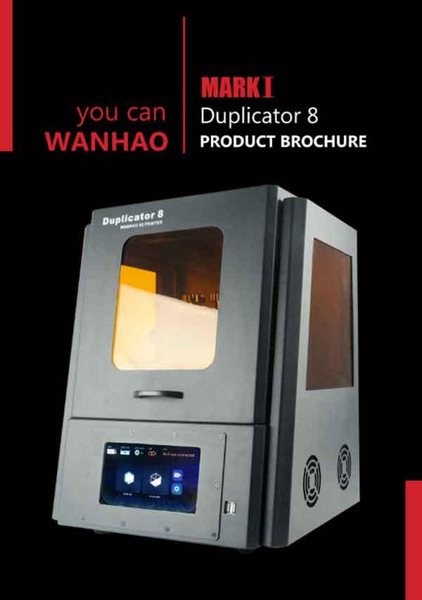 WANHAO  duplicator D8 V2 光造形式 3Dプリンター(オレンジ窓)【正規販売代理店】