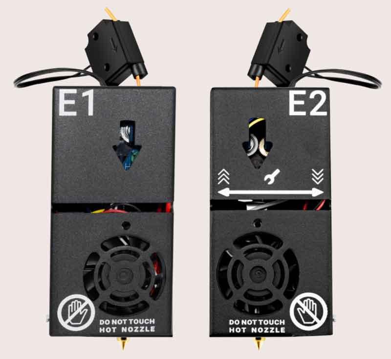 Tenlogデュアル押出機ノズルキットE1+E2(フィラメント振れセンサー付き)