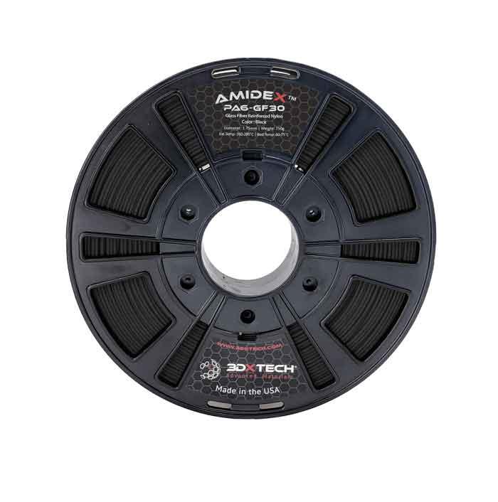 3DXTECH AMIDEX™PA6-GF30ガラス繊維強化ナイロンフィラメント750g