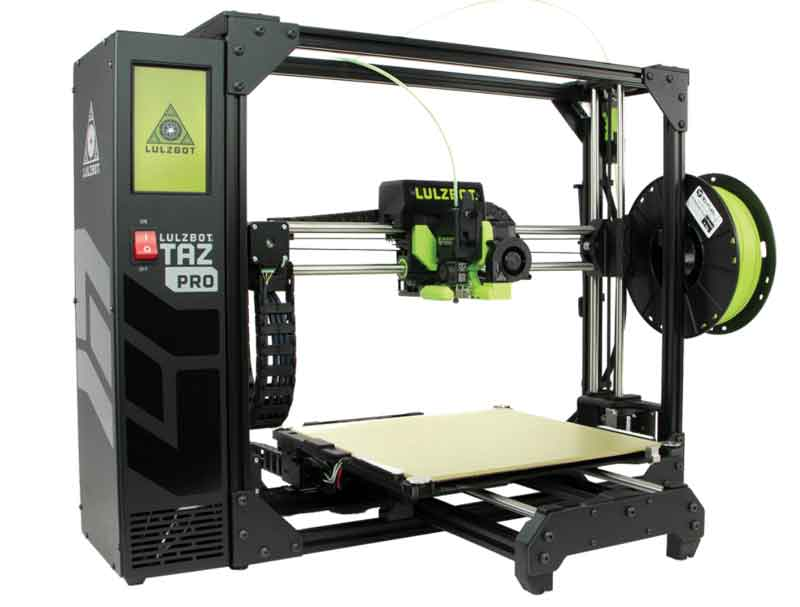 LulzBot/ラルズボット TAZPro-S 3Dプリンター工業用グレード・280x280x285mm印刷サイズ・最大ホットエンド温度:290°C【正規販売代理店】