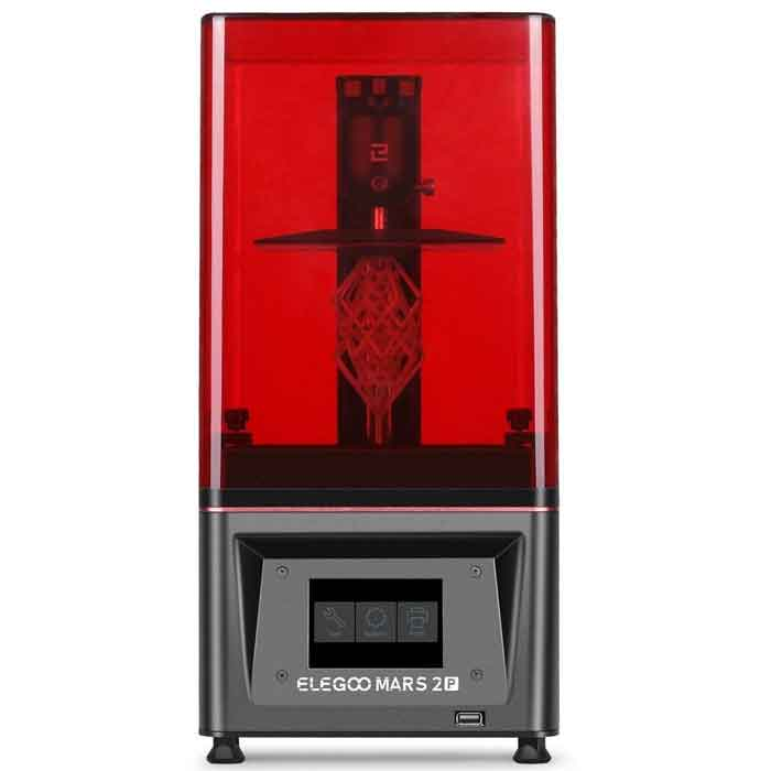 ELEGOO Mars 2 Pro Mono MSLA  6.08インチ2KモノクロLCD 印刷サイズ129 * 80 * 160mm 3Dプリンター 【正規販売代理店】