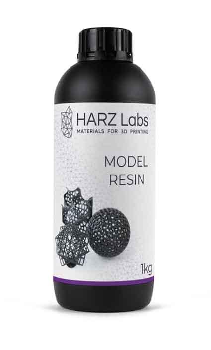 HARZLabs モデルレジン(グレー) 1Kg LCD光造形 3Dプリンター用 (Anycubic Photon、Bean、FlashForge、Phrozen 3Dプリンター、Wanhao、およびその他のLCDベースのプリンター)Model Resin