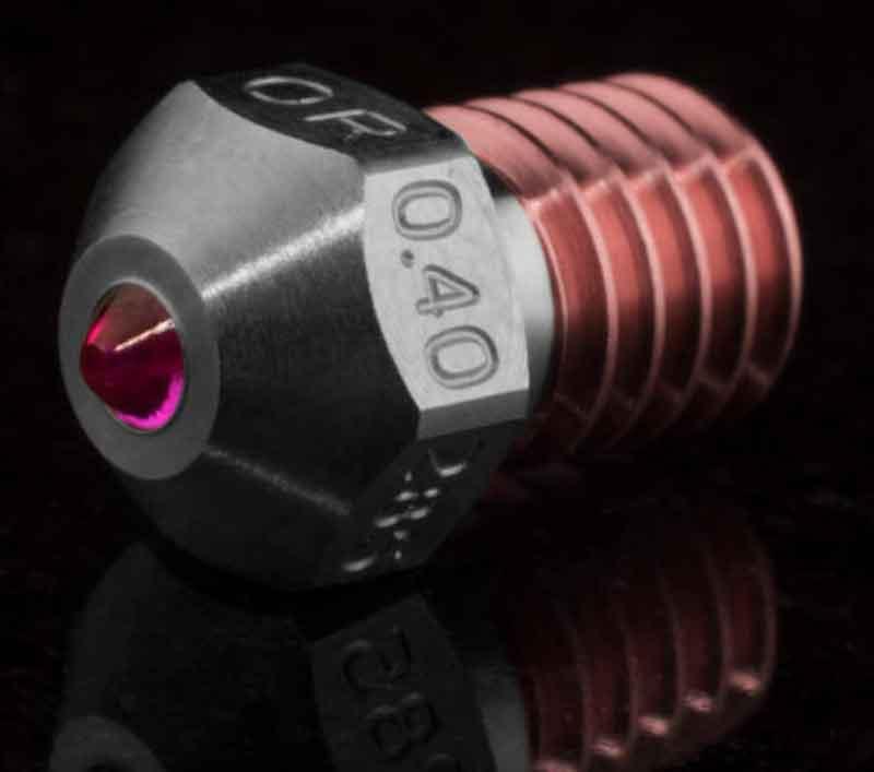 3DVerkstan Olsson Ruby Nozzle   3Dヴァーグスタン社 オルソン ルビー High Temp(HT)E3D V4/V5/V6ノズル