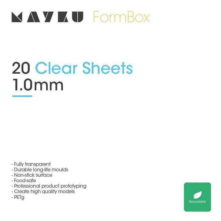 "MAYKU 卓上真空成型機""FormBox""用PET-Gシート(20枚入り)"