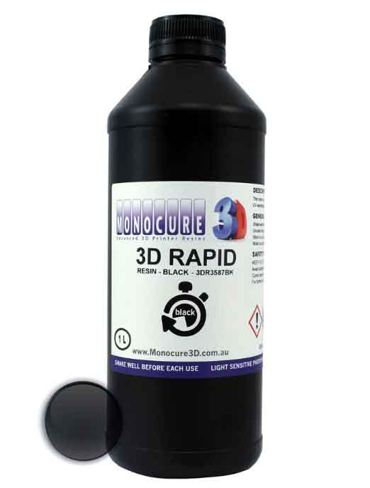 MONOCURE3D  LCD光造形 3Dプリンター(Anycubic Photon、Phrozen Shuffle、Sparkmaker Pro、FSL1、Wanhao Duplicator 7&8、Sparkmaker他LCD用) ラピッド・レジン(Rapid Resin) 1Kg