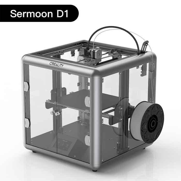 Creality3D SermoonD1 3Dプリンター オールメタルエクストルーダー/印刷サイズ280 * 260 * 310mm サイレントメインボード/透明デザイン/スマートセンサー