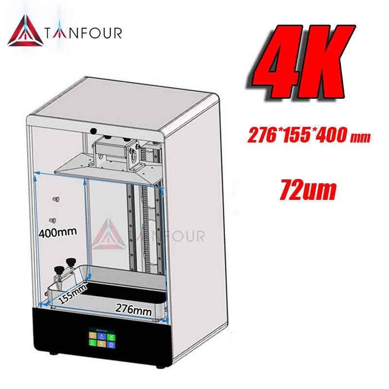 Tianfour H400  3Dプリンタ ー  12.5 インチ 4K LCD276*155*400mm大規模なビルドボリューム/デュアルレールZ軸/3.5インチタッチスクリーンサポート Uディスク印刷  光造形式 3Dプリンターキット 【正規販売代理店】