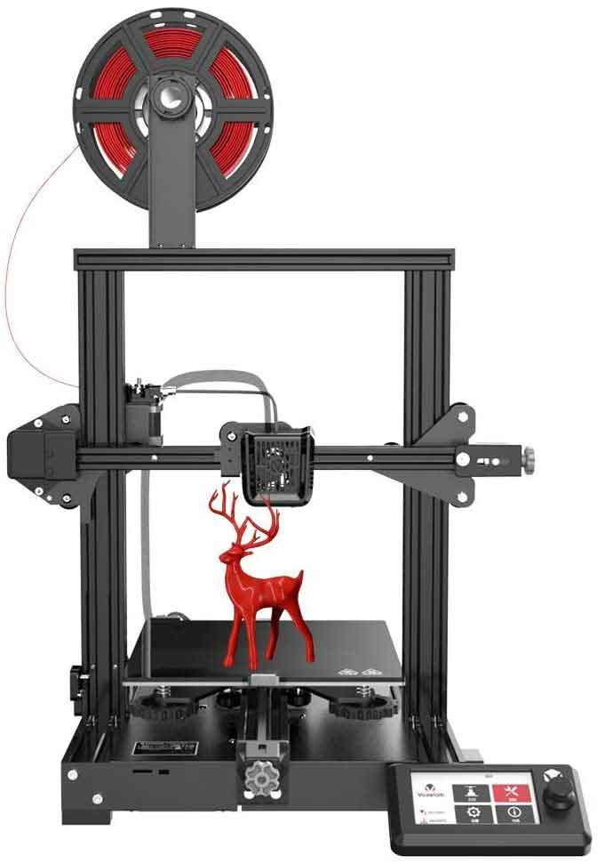 Flashforge/Voxelab Aquilaアクイラ  DIY FDM  3Dプリンター (カーボンシリコンクリスタルガラスプラットフォーム 未組立 超高精度印刷 停電回復機能 MK-8押出機 最大印刷サイズ 220 * 220 * 250mm)