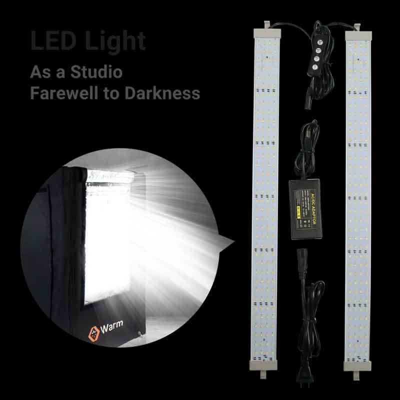 Warm mini LED付き 3Dプリンターエンクロージャー (ストレージサイズ: 44.5cm×56.5cm×68.5cm Creality Ender 3/Ender 3 Pro/Ender5/Ender 3X/Ender3 Pro X/CP-01/Ender-2/CR-100 3Dプリンター)