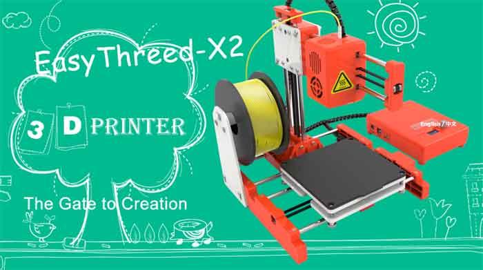 簡単!きれいな造形です!ちょっと上級者向けになりました!EasyThreed/エージースリーディー  X2 3Dプリンター 本体【正規販売代理店】