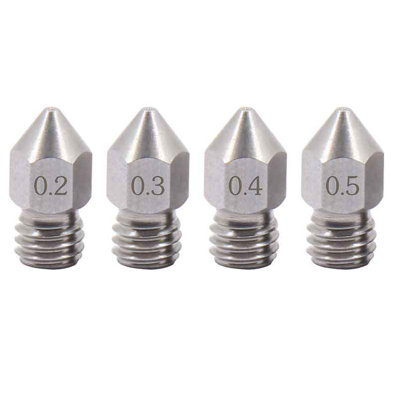 aimsoar ステンレス鋼ノズルMK8 0.2mm/0.3mm/0.4mm/0.5mm am004