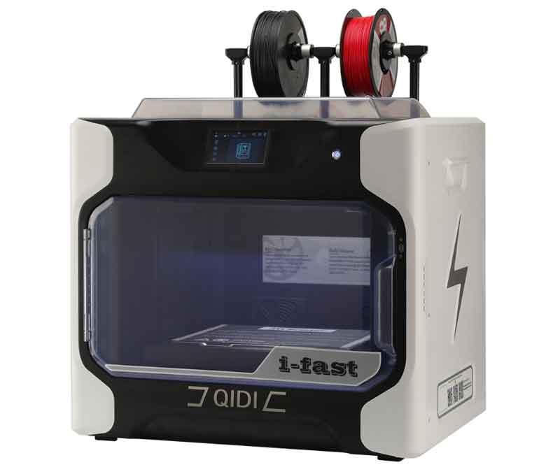 QIDI TECHNOLOGY/チーディーテクノロジー 大型インテリジェントインダストリアルグレード3Dプリンター新モデル:i-FAST完全メタル構造,5インチタッチスクリーン・デュアルエクストルーダー・WiFi機能
