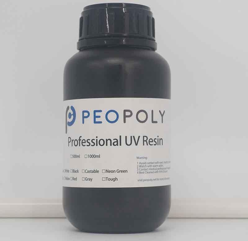Peopoly 光造形レーザーSLA 3DプリンターMOAI用 モデルレジン(グレー) 0.5KG