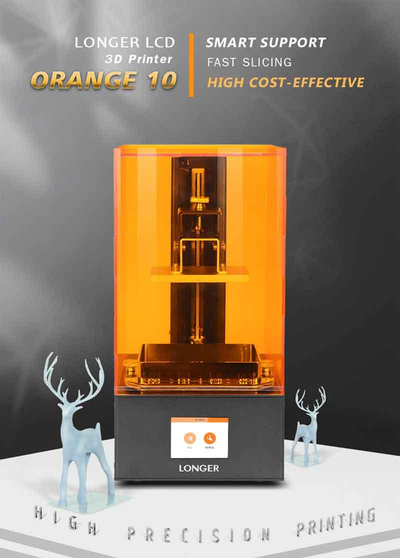 LONGER  オレンジ10 LCD光造形式 3Dプリンター【正規販売代理店】