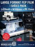 Monocure3D  SLA/LCD光造形式 3Dプリンター用大型FEPフィルム150ミクロン(Phrozen TransformなどMSLA/LCD 13.3インチ用スペアパーツ)