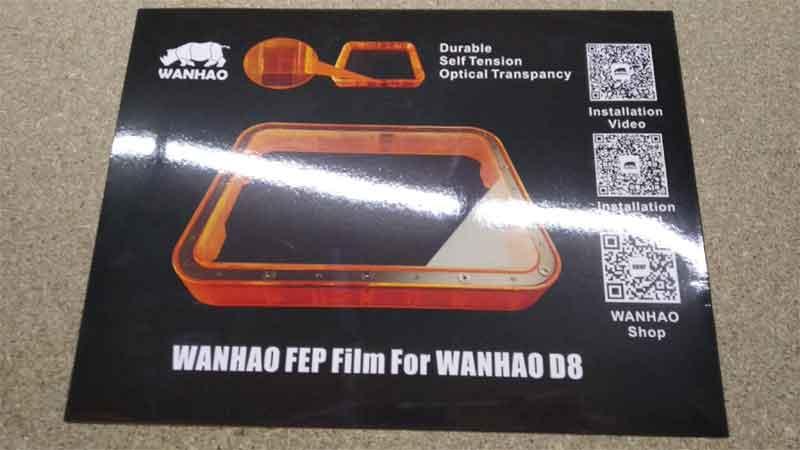 WANHAO  duplicator D8 光造形式 3Dプリンター用FEPフィルム(WANHAO純正)