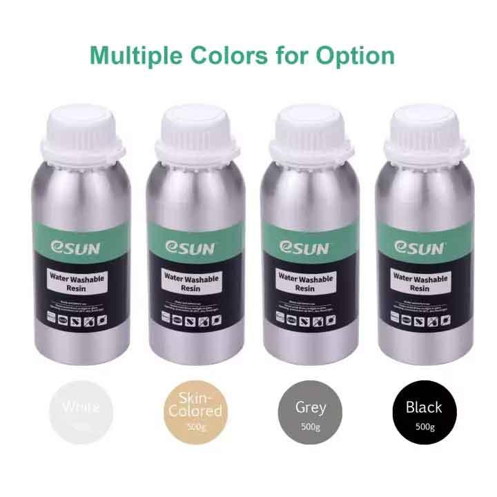 eSUN  LCD光造形 3Dプリンター(iSUN LCD3/Anycubic Photon/Wanhao D7/Sparkmaker用) UV水洗い レジン 500g