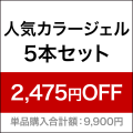 人気カラージェル5本セット[SG3406]