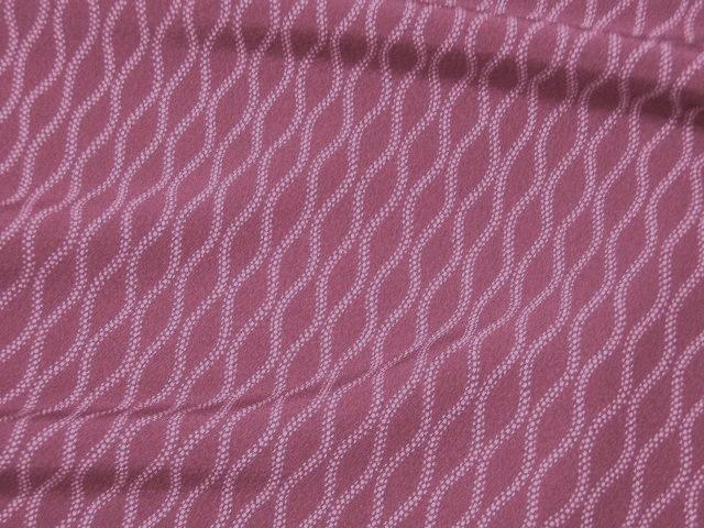 梅紫色、立涌文様の江戸小紋 【207】