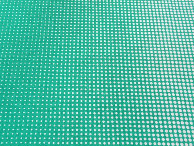 花緑青色 ぼかしドット文様 江戸小紋 【4901】