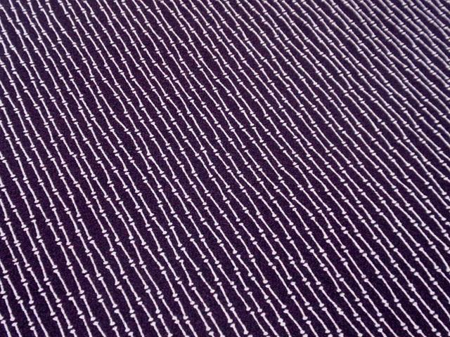 深紫色 斜め竹節文様 江戸小紋 【5001】