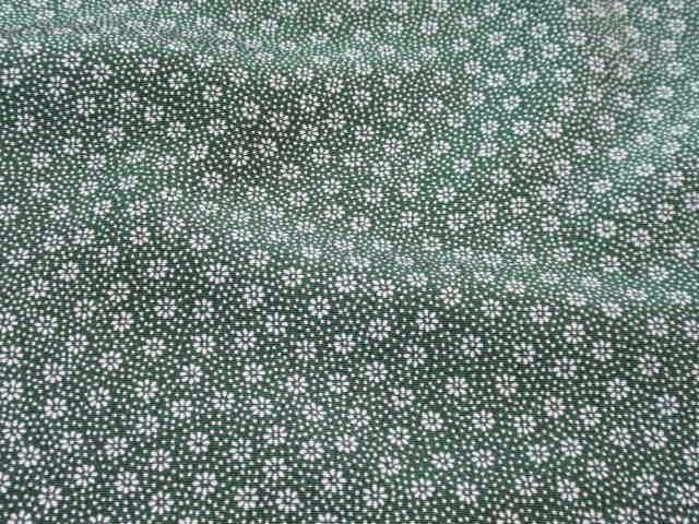 深緑色、地錐菊の江戸小紋 【605】