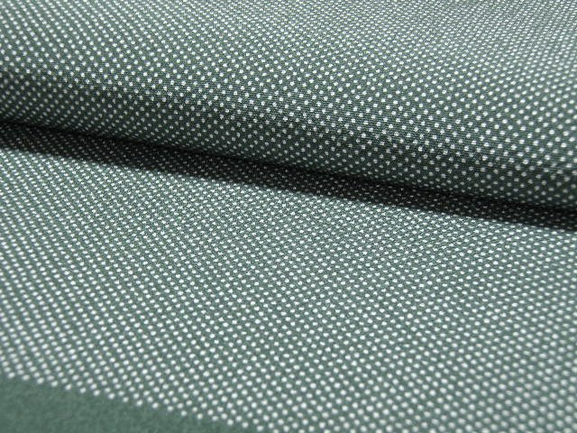 深緑色、行儀文様(並行儀)の江戸小紋 【607】