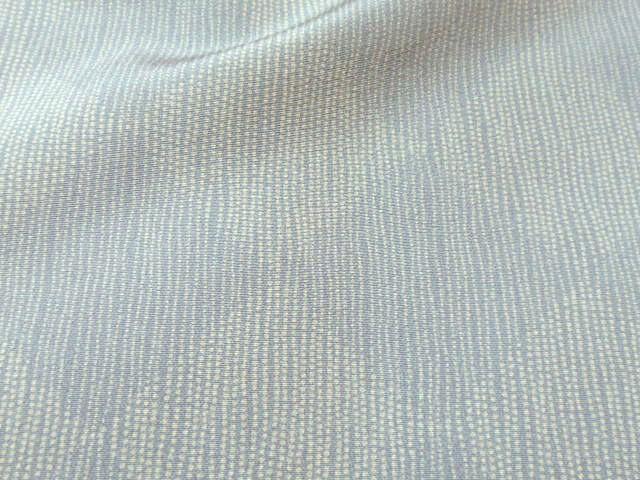 単衣の提案(2) しっとりとヨロケ菱市松文様の江戸小紋