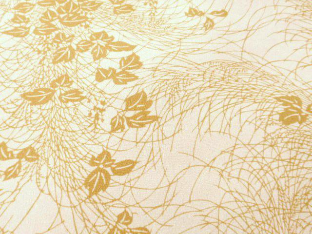 単衣の提案(5) 萩とススキの江戸小紋