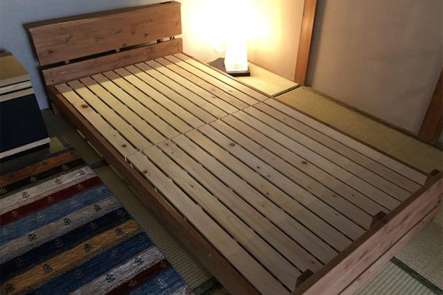 美作ひのきベッドフレーム01