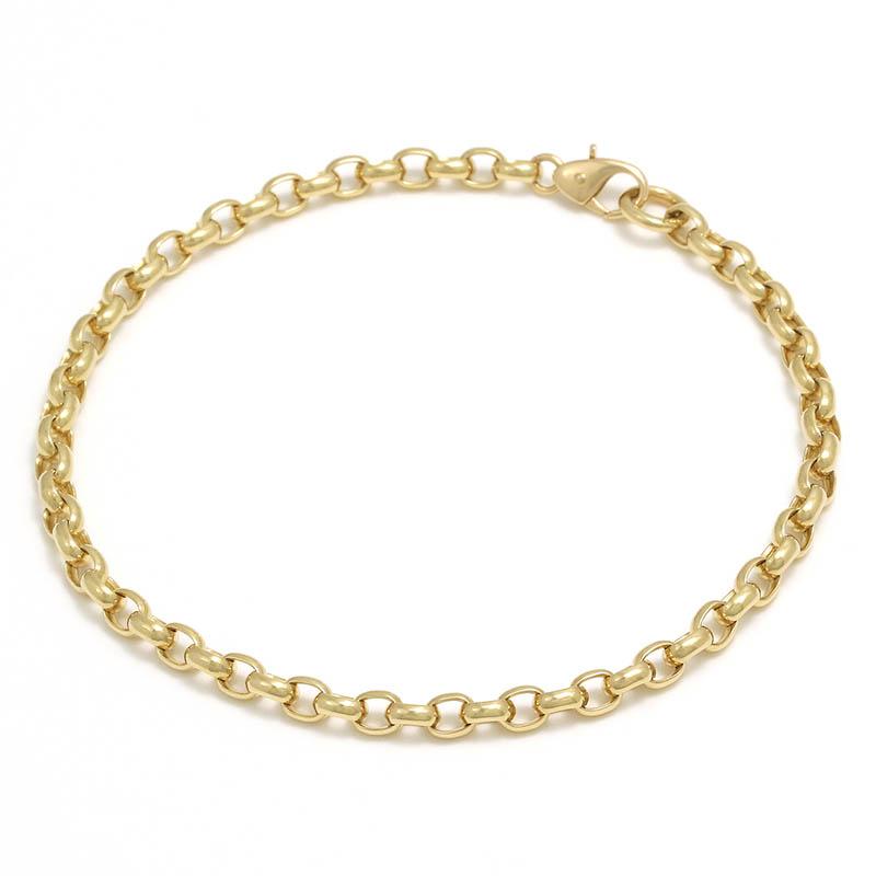 メンズアクセサリー Smooth Chain Bracelet - K18Yellow Gold