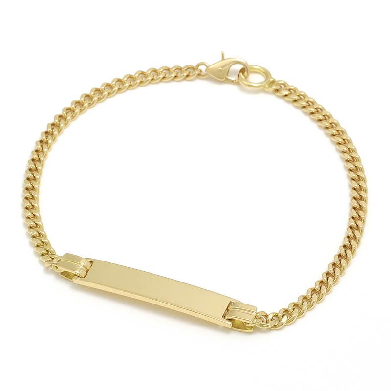 メンズアクセサリー Narrow ID Chain Bracelet - K18Yellow Gold