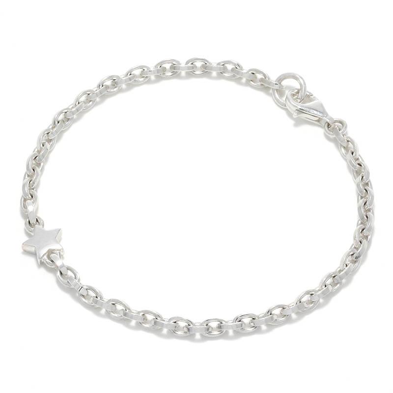 メンズアクセサリー One Star Chain Bracelet - Silver